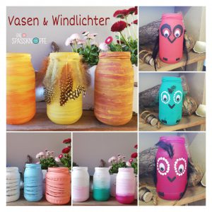 Vasen - Windlichter - do it yourself - Bastel Idee - Eulen - Instagram