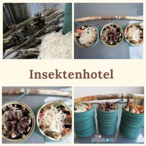 Insektenhotel - DIY Idee - Nachhaltig - Naturmaterialien - Insekten