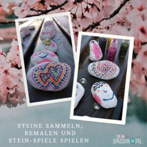 Steine bemalen - Steine - DIY - Social Media - Kinderbetreuung auf Hochzeiten - 3D Pearl Paint Farben - Spiele mit Steinen