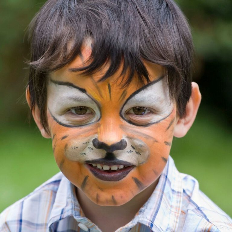 Tiger - Kinderschminken - privatfeier - nuernberg