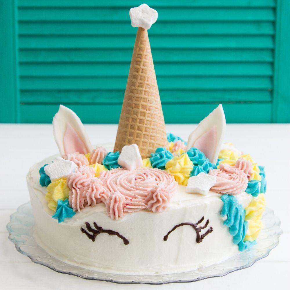 Kindergeburtstag - Torte - Einhorn - kinder_eventagfentur